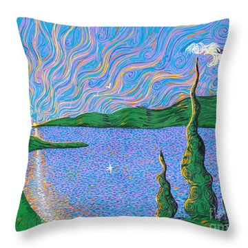 Trinity Lake Series Throw Pillow by Stefan Duncan