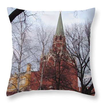 Trinity Tower At Dusk Throw Pillow