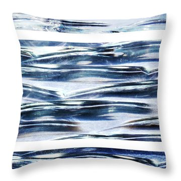 Trio In Blue Throw Pillow by Wendy Wilton