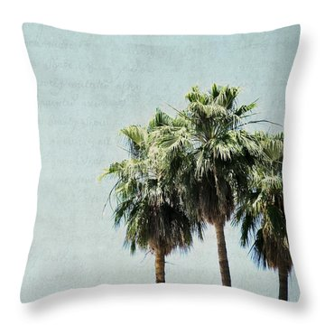 Trio Throw Pillow by Lisa Parrish