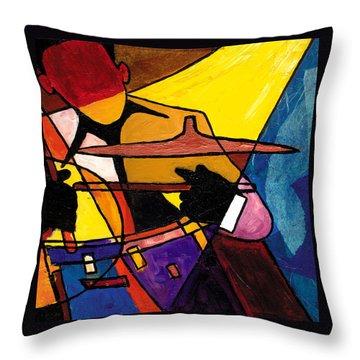 Trip Trio 3 Of 3 Throw Pillow by Everett Spruill