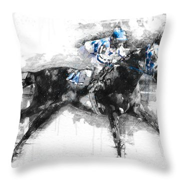 Secretariat Triple Crown 73 Throw Pillow