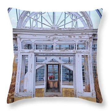 Triple Doorways Throw Pillow
