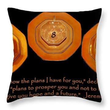Triple Eight Octagon Saucers With Jeremiah Twenty Nine Eleven On Black Throw Pillow