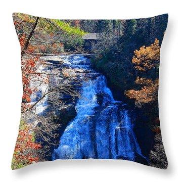 Triple Falls Throw Pillow
