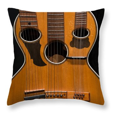 Triple-neck Instrument Throw Pillow