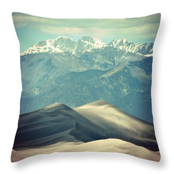Colorado Great Sand Dune Throw Pillow