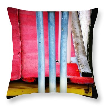 Triple Play Throw Pillow by Newel Hunter