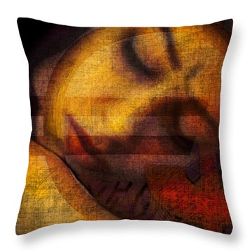 Triple Seduction Throw Pillow by Alfredo Gonzalez