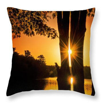 Triple Sunburst Morning Throw Pillow