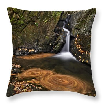 Triple Swirls Throw Pillow by Susan Candelario