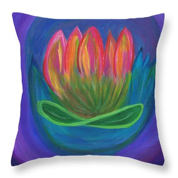 Triple Treasure Throw Pillow
