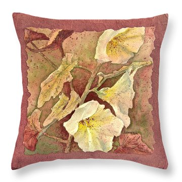 Throw Pillow featuring the painting Triple White by Carolyn Rosenberger