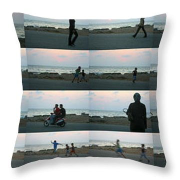 Tripoli Sunset Throw Pillow