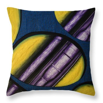 Tripping Pipe Throw Pillow