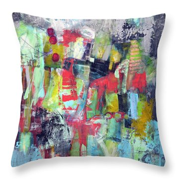 Throw Pillow featuring the painting Trippy by Katie Black