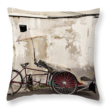 Trishaw Throw Pillow