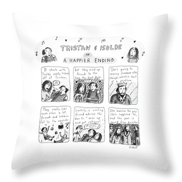 Tristan & Isolde In A Happier Ending Throw Pillow