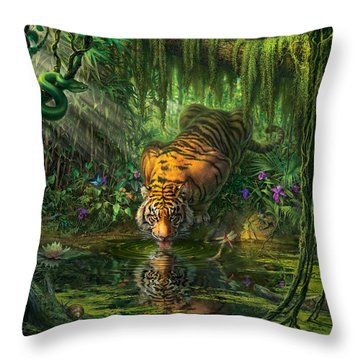 Aurora's Garden Throw Pillow