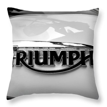 Triumph Fuel Tank Throw Pillow