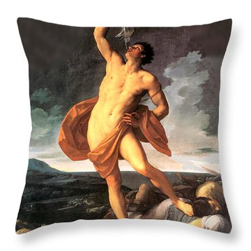 Triumph Of Samson Throw Pillow by Guido Reni