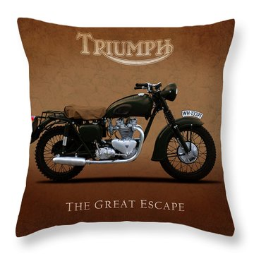Triumph - The Great Escape Throw Pillow by Mark Rogan