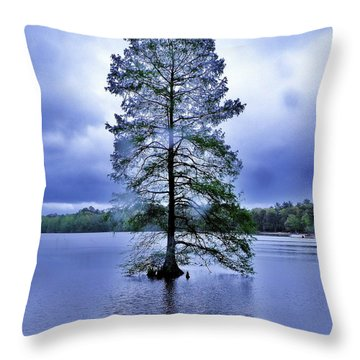 The Healing Tree - Trap Pond State Park Delaware Throw Pillow