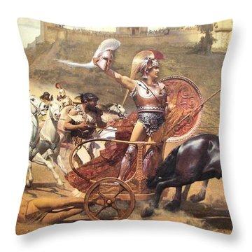 Triumphant Achilles Throw Pillow