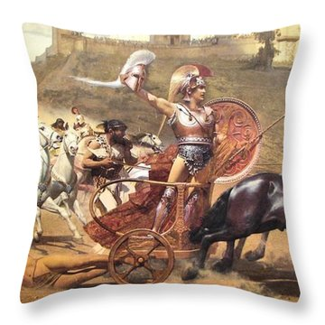 Triumphant Achilles Throw Pillow