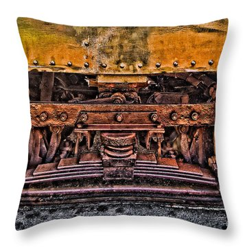 Trolley Train Details Throw Pillow by Susan Candelario