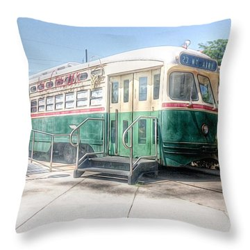 Trolly Diner Philadelphia Throw Pillow