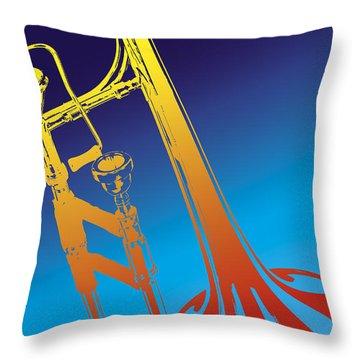 Trombone Throw Pillow