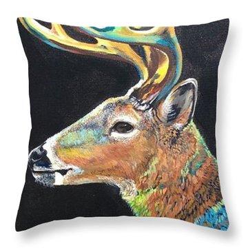 Trophy Buck Throw Pillow