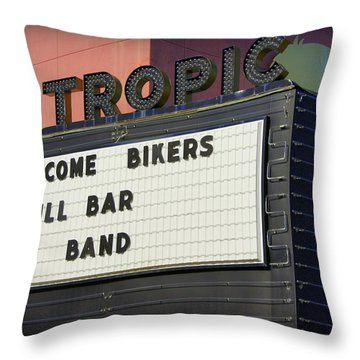 Tropic Theatre Throw Pillow by Laurie Perry