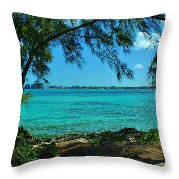 Tropical Aqua Blue Waters  Throw Pillow