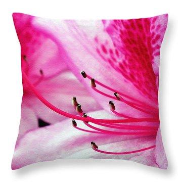 Tropical Azalea Throw Pillow by Kaye Menner