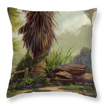 Throw Pillow featuring the painting Tropical Blend by Michael Humphries