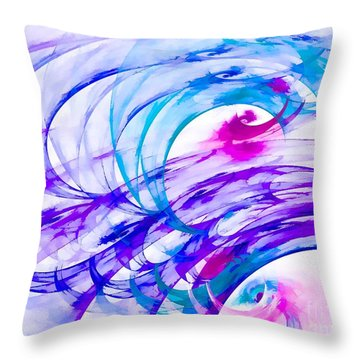 Tropical Breeze Throw Pillow by Peggy Hughes