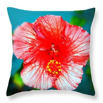 Tropical Burst Redux Throw Pillow
