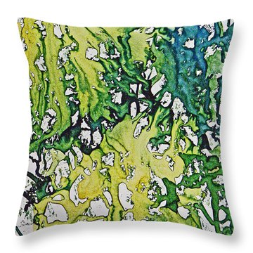 Throw Pillow featuring the painting Tropical Confusion by Joan Hartenstein