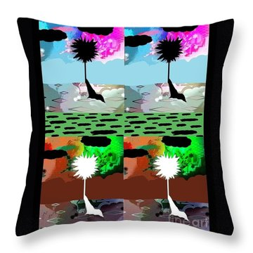 Tropical Daze 2 Throw Pillow by Ann Calvo