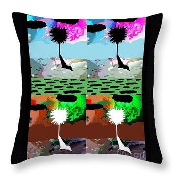 Throw Pillow featuring the digital art Tropical Daze 2 by Ann Calvo