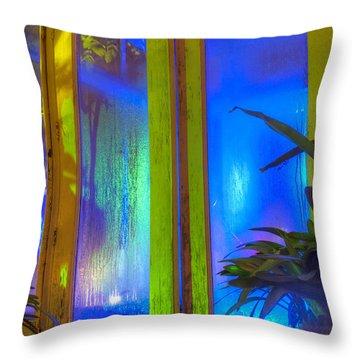 Tropical Door Throw Pillow by Darleen Stry