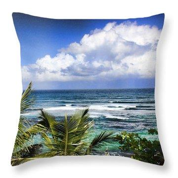 Tropical Dreams Throw Pillow by Daniel Sheldon