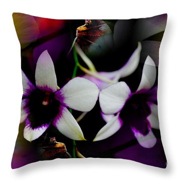 Tropical Dreams Throw Pillow by Nola Lee Kelsey