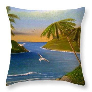 Tropical Escape Throw Pillow