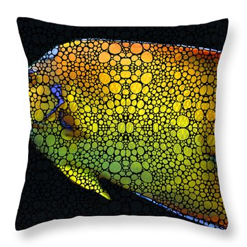 Tropical Fish 12 - Abstract Art By Sharon Cummings Throw Pillow