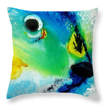 Tropical Fish 2 - Abstract Art By Sharon Cummings Throw Pillow by Sharon Cummings