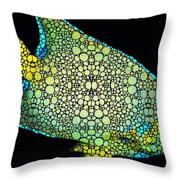 Tropical Fish Art 8 - Abstract Mosaic By Sharon Cummings Throw Pillow