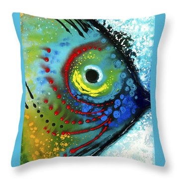 Tropical Fish - Art By Sharon Cummings Throw Pillow by Sharon Cummings